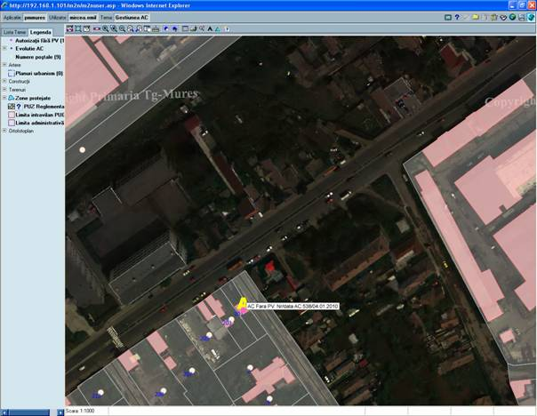 Vizualizati imaginile din articolul: A közszolgáltatások nyújtási idejének hatékonnyá tétele a városrendészetre vonatkozó geospaciális megoldásokon keresztül – Marosvásárhely Municípium