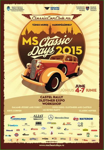 Vizualizati imaginile din articolul: Participare internațională la MS Classic Car Days Tîrgu Mureș 4-7 iunie 2015