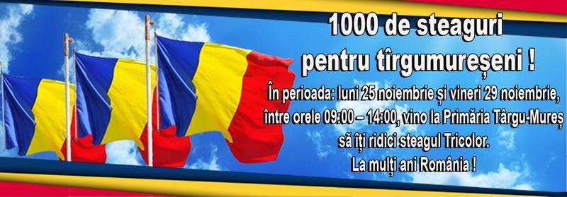 Vizualizati imaginile din articolul: O mie de steaguri pentru târgumureșeni!