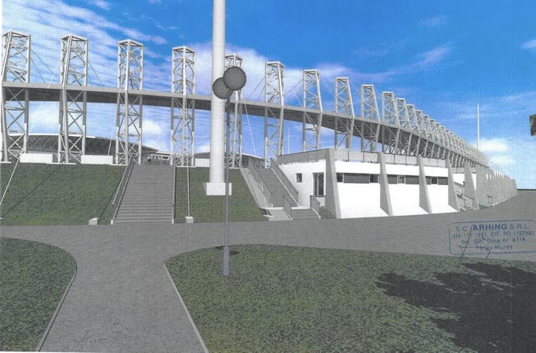 Vizualizati imaginile din articolul: Se lucrează la stadionul din Parcul Municipal!
