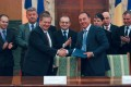 Primarul Dorin Florea a semnat cu IBM Memorandumul de Înţelegere pentru realizarea Centrului de Excelență în Cercetare din Tîrgu Mureș